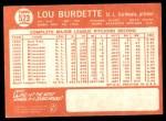 1964 Topps #523  Lew Burdette  Back Thumbnail