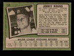 1971 Topps #158  Jerry Reuss  Back Thumbnail