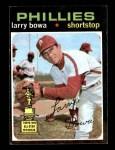 1971 Topps #233  Larry Bowa  Front Thumbnail