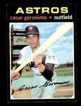 1971 Topps #447  Cesar Geronimo  Front Thumbnail