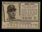 1971 Topps #719  Jerry May  Back Thumbnail