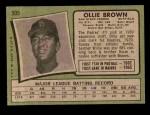 1971 Topps #505  Ollie Brown  Back Thumbnail
