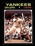 1971 Topps #382  Jake Gibbs  Front Thumbnail