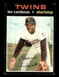 1971 Topps #405  Leo 'Chico' Cardenas  Front Thumbnail