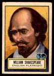 1952 Topps Look 'N See #66  William Shakespeare  Front Thumbnail