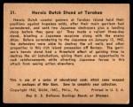1941 Gum Inc. War Gum #31   Heroic Dutch Stand At Tarakan Back Thumbnail
