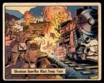 1941 Gum Inc. War Gum #77   Ukrainian Guerillas Blast Troops Train Front Thumbnail
