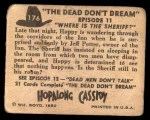 1950 Topps Hopalong Cassidy #176   Where is the Sheriff Back Thumbnail