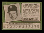 1971 Topps #166  Joe Hoerner  Back Thumbnail