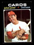 1971 Topps #185  Julian Javier  Front Thumbnail