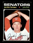 1971 Topps #591  Jackie Brown  Front Thumbnail