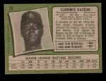 1971 Topps #25  Cito Gaston  Back Thumbnail