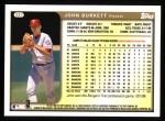 1999 Topps #337  John Burkett  Back Thumbnail