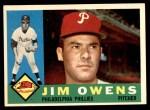 1960 Topps #185  Jim Owens  Front Thumbnail