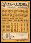 1968 Topps #86  Willie Stargell  Back Thumbnail