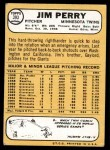 1968 Topps #393  Jim Perry  Back Thumbnail