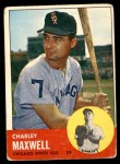 1963 Topps #86  Charley Maxwell  Front Thumbnail