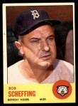 1963 Topps #134  Bob Scheffing  Front Thumbnail