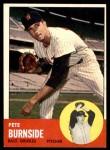 1963 Topps #19  Pete Burnside  Front Thumbnail