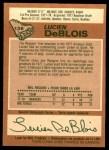 1978 O-Pee-Chee #136  Lucien DeBlois  Back Thumbnail
