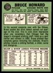 1967 Topps #159  Bruce Howard  Back Thumbnail