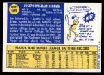 1970 Topps #589  Joe Keough  Back Thumbnail
