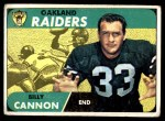 1968 Topps #37  Billy Cannon  Front Thumbnail