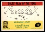 1964 Philadelphia #14   -  Don Shula Colts Play of the Year Front Thumbnail