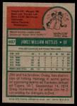 1975 Topps #497  Jim Nettles  Back Thumbnail