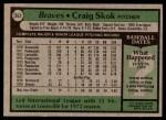 1979 Topps #363  Craig Skok  Back Thumbnail