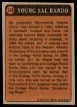 1972 Topps #348   -  Sal Bando Boyhood Photo Back Thumbnail