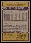 1979 Topps #110  Billy Joe DuPree  Back Thumbnail