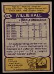 1979 Topps #235  Willie Hall  Back Thumbnail