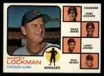 1973 Topps #81 SOL  -  Whitey Lockman / Hank Aguirre / Ernie Banks / Larry Jansen / Pete Resier Cubs Leaders Front Thumbnail