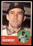 1963 Topps #388 xTCH Jim Davenport  Front Thumbnail
