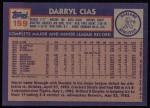 1984 Topps #159  Darryl Cias  Back Thumbnail