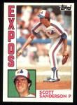 1984 Topps #164  Scott Sanderson  Front Thumbnail