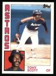1984 Topps #292  Tony Scott  Front Thumbnail