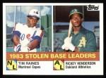 1984 Topps #134  Rickey Henderson / Tim Raines  Front Thumbnail