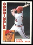 1984 Topps #227  Steve Braun  Front Thumbnail
