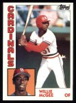 1984 Topps #310  Willie McGee  Front Thumbnail