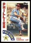 1984 Topps #395   -  Steve Carlton All-Star Front Thumbnail