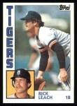 1984 Topps #427  Rick Leach  Front Thumbnail