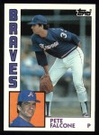 1984 Topps #521  Pete Falcone  Front Thumbnail