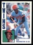 1984 Topps #623  Ron Washington  Front Thumbnail