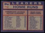 1984 Topps #712   -  Reggie Jackson / Graig Nettles / Greg Luzinski AL Active HR Leaders Back Thumbnail