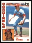 1984 Topps #102  Ken Oberkfell  Front Thumbnail