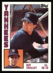 1984 Topps #305  Roy Smalley  Front Thumbnail