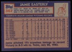 1984 Topps #367  Jamie Easterly  Back Thumbnail