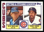1984 Topps #456   -  Fergie Jenkins / Keith Moreland Cubs Leaders & Checklist Front Thumbnail
